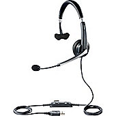 Jabra UC Voice 550 Mono Wired Mono Headset - Over-the-head - Semi-open - Black