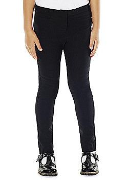 F&F School Girls Stretch Trousers - Black