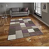 Brooklyn Edgy Squares Rug - Purple