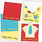 Happy Father's Day Message Cards (Pack of 6)