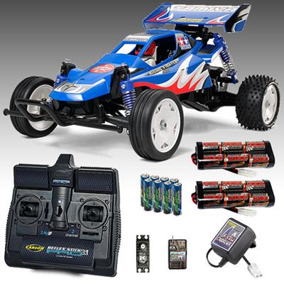 Tamiya Rising Fighter Buggy Rc Car Deal Bundle. Radio, 2X Battery, Charger 58416