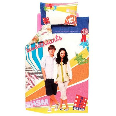 Disney High School Musical Club Panel Single Bed Duvet Quilt Cover Set