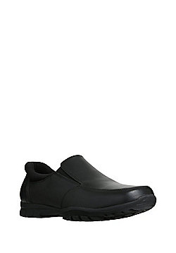F&F All Day Comfort Leather Shoes - Black