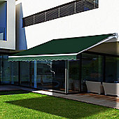 Outsunny Awning Canopy Sun Shade Manual Retractable 4.5 x 2.5m - Green