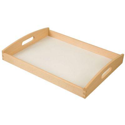 Apollo Rubberwood Tray with White Base