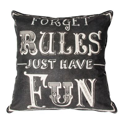 Art for Home Forget Rules Cushion