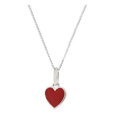 Ladybird Red Enamel Heart Pendant