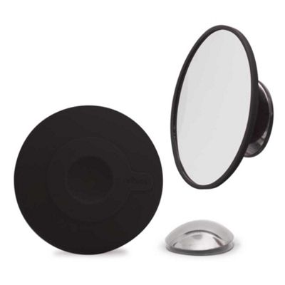 Bosign Portable Make-Up Mirror in Black Suction & Magnetic Fixing Magnifies by 10
