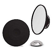 Mirror with Magnification x10 in Black with Suction Cup and Magnetic Mount by Bosign