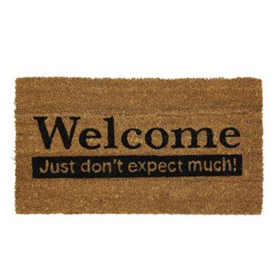 Welcome Novelty PVC Coir Door Mat - 33.5x60cm