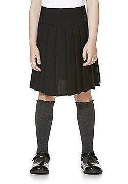 F&F School Kilt-Style Permanent Pleat Skirt - Black