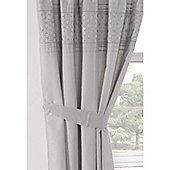 Rapport Everdean Pencil Pleat Curtains - Silver