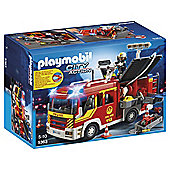Playmobil 5363 City Action Fire Brigade Engine Playset with Light and Sound