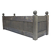 34'' Clarence Classic Oak Planter Trough with Plastic Liner