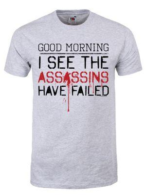 The Assassins Have Failed Grey Men's T-shirt