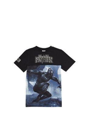 Marvel Black Panther Graphic Mesh T-Shirt Black Multi 5-6 years