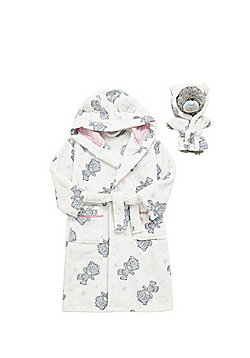 Me to You Dressing Gown Set with Dinky Bear Outfit - Cream