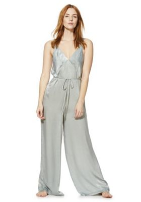 F&F Woven Lounge Jumpsuit Green 8-10