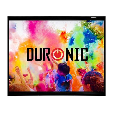 "Duronic APS60/43 Screen Only Hook & Loop Wall Mountable HD Projection Screen for | Cinema | Home – 60"" -4:3 Matte White Screen (Size: 122 X 91cm)"