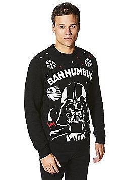 Star Wars Darth Vader Sound and Light-Up Christmas Jumper - Black