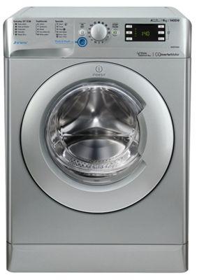 Indesit Innex Washing Machine, BWE 91484X S UK, 9kg, 1400rpm - Silver