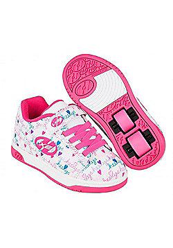 Heelys Dual Up White/Pink/Multi Kids Heely X2 Shoe - White