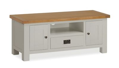 Daymer Grey TV Unit 120cm with Drawer - TV Unit