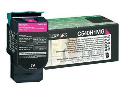 Lexmark Return Program Toner Cartridge (Yield 1000 Pages) for C540n/C543dn/C544dn/C544dtn/C544dw/C544n Colour Laser Printers - Magenta
