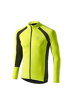 Altura Airstream Summer Long Sleeve Cycling Jersey - Yellow & Black