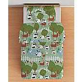 Le Farm Cotbed Junior Duvet Cover Set with Pillowcase
