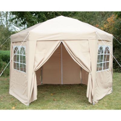 Airwave Hexagon Pop Up Gazebo Fully Waterproof 3.5m in Beige  sc 1 st  Tesco & Buy Airwave Hexagon Pop Up Gazebo Fully Waterproof 3.5m in Beige ...