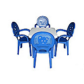 Resol Childrens Garden Plastic Chairs & Table Set - (Pack of 4 Chairs & 1 Table)