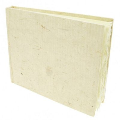 Handmade Paper Hardback Sketchbook Small, white rough, 13cm x 16cm. 210gsm