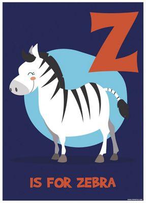 Z Is For Zebra Mini Poster 32 x 44cm