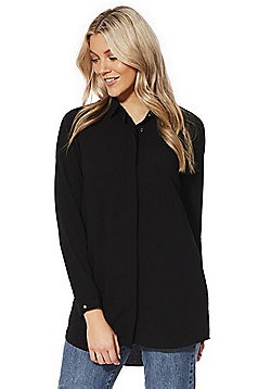 Vero Moda Long Line Shirt - Black