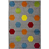 Hex Multi Coloured Rug - 80 x 150 cm