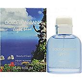 Dolce & Gabbana Light Blue Pour Homme Beauty of Capri Eau de Toilette (EDT) 75ml Spray For Men
