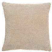 Mason Grey Chenille Spot Cream Cushion Cover - 43x43cm