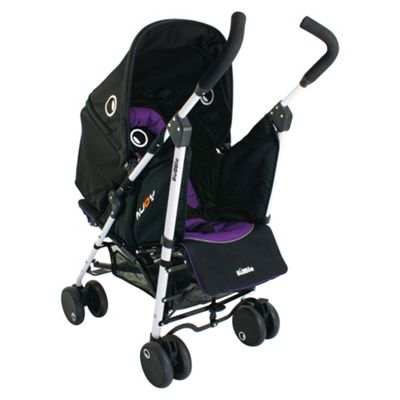 Petite Star Njoy Bubble Reversible Pushchair, Black & Purple