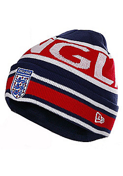 England F.A Official Licensed England Striped Beanie By Era