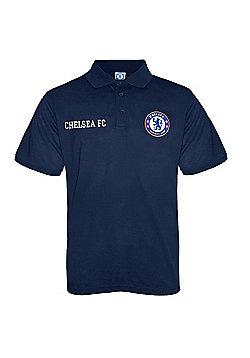 Chelsea FC Boys Polo Shirt - Navy