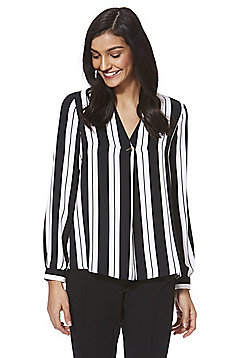 F&F Striped Bar Detail Blouse - Multi