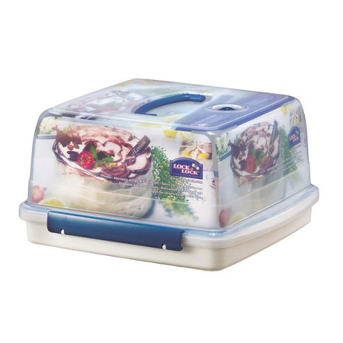 Lock & Lock 12.6 litre Square Cake Box with Freshness Tray
