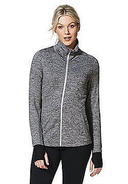 F&F Active Funnel Neck Zip-Through Hoodie - Grey
