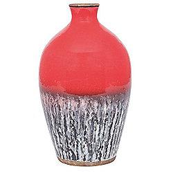 Decorative Red Ceramic Vase Volcanic Effect (300x180x180) Unique Design