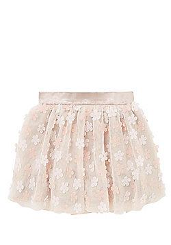 F&F 3D Flower Tutu Skirt - Blush pink