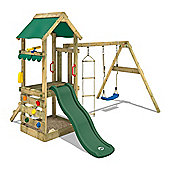 Wooden Climbing Frame Wickey FreshFlyer With Green Slide