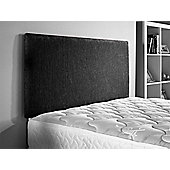 ValuFurniture Chenille Fabric Headboard - Black - King 5ft