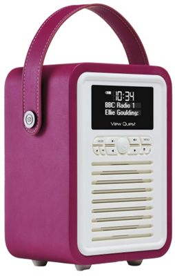 View Quest Retro Mini DAB+/FM Radio with Bluetooth (Purple)