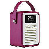 View Quest Retro Mini DAB+/FM Radio with Bluetooth (Purple)